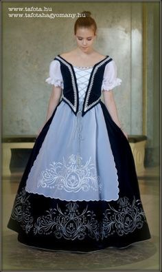 This is a Hungarian classical dress. Wedding Attire, Wedding Dresses, Hungarian Embroidery, Ballet Tutu, Special Dresses, Historical Costume, Embroidery Dress, Traditional Dresses, Budapest