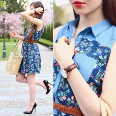 Get this look: http://lb.nu/look/7419128  More looks by Ariadna Majewska: http://lb.nu/ariadna92  Items in this look:  Floral Dress   #retro #romantic #street