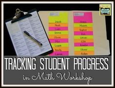 Check out this method for tracking student progress during math workshop (or anytime) in Week 4 in the 7 Habits of Highly Effective Math Workshops series! Math Teacher, Math Classroom, Kindergarten Math, Teaching Math, Classroom Ideas, Teaching Ideas, Teacher Stuff, Classroom Organization, Classroom Management