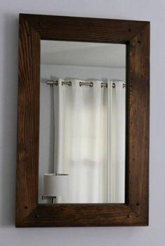 rustic wood mirror frame. Rustic Reclaimed Wood Mirror 28x18 Distressed Frame Rustic Wood Mirror Frame B