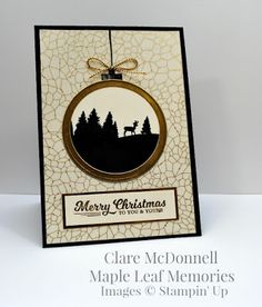 Stampin' Up To You and Yours Too and Winter Wonderland Vellum card from Maple…