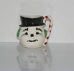 Vintage Snowman Mug  by Riddell California by PrettyfulTreasures, $9.50