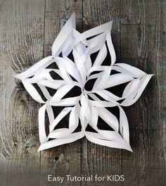 Giant 3D Snowflake Easy Tutorial