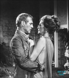 Paul Newman and Faye Dunaway in The Towering Inferno