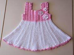 SPECIAL OCCASION DRESS - Baby Dress, Crochet Baby Baptism Dress, Baby Christening Dress, Crochet White and Pink dress    Knitted dress handmade for baby from natural finest 100% cotton.    Available in baby sizes:  3-6 Months    Great for all seasons. Great for gift idea, Baby shower gift.    Great for Baby Christening. Thank you for shopping at my shops :-)