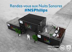 ÉVÈNEMENT - maison connectée Hue : dispositif éphémère de Philips pour les Nuits Sonores 2014 (Lyon)