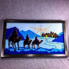 Three Wise Men Crewel Framed Long Stitched Art Embroidery 21 Inches   eBay
