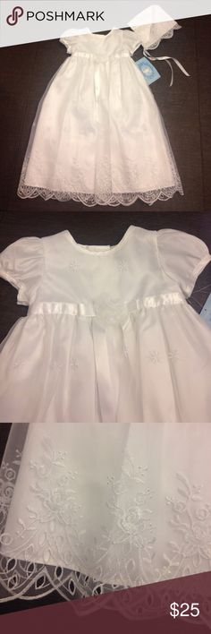 NWT Christening/Baptism Gown 9M Picture Perfect brand white Christening/Baptism gown with bonnet. NWT. Size 9 M Dresses Formal