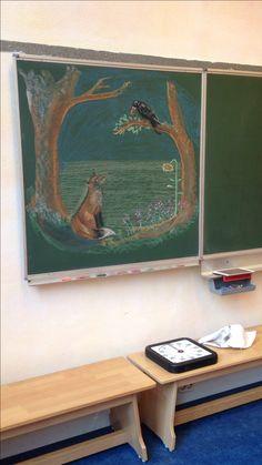Chalkboard Pictures, Chalkboard Drawings, Chalkboard Designs, Chalk Drawings, Blackboard Art, Rudolf Steiner, Blackboards, Art Classroom, Chalk Art