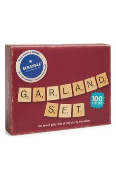 Free shipping and returns on WILD AND WOLF Scrabble® Garland Set at Nordstrom.com. Who said Scrabble was just a board game? Bring the word-play fun to any party with this garland set that includes blank and star tiles, to allow you to create banners for any event!