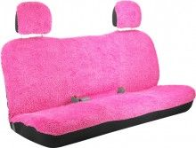 Girly Shaggy Pink Bench Style Back Car Seat Cover