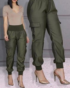 High Waist Elastic Detail Pants - - Style:Fashion Pattern Type:Solid Material:Polyester Length:Long Occasion:Casual Package Note: There might be difference according to manual measurement. Please check the measure… Source by Cuffed Pants, Skinny Pants, Wide Leg Pants, Casual Pants, High Waist Pants, Trend Fashion, Fashion Pants, Fashion Outfits, Style Fashion