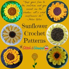 Plan Ahead for Sunshine: 13 Sunflower Crochet Patterns