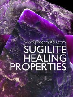 Crystal Healng Properties and Meanings of Sugilite - See Full Article -x- www. : Regal - Connection to 'Christ' Consciousness - increases Psychic abilites - Grounds astral information - Promotes Humanitarianism Crystals Minerals, Gems And Minerals, Crystals And Gemstones, Stones And Crystals, Gem Stones, Healing Stones, Healing Crystals, Crystal Meanings, Crystal Grid