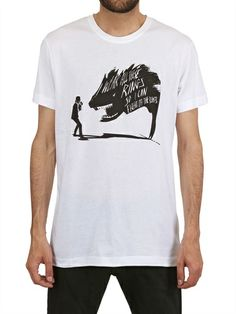 KARL PRINTED BEAST COTTON T-SHIRT