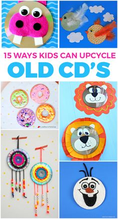 15 Fun Ways Kids Can Upcycle Old CD's: Cute collection of CD crafts