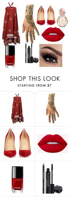 """Red lovers"" by kebrsp04 ❤ liked on Polyvore featuring Christian Louboutin, Chanel, Rodial and Bulgari"