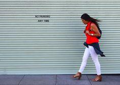 Double denim street style   La Vie de Villa #fashion #streetstyle #blogger