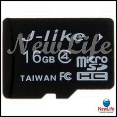 J-like C4 16GB Micro SDHC / TF cartão de memória TransFlash de alta qualidade 14,50€