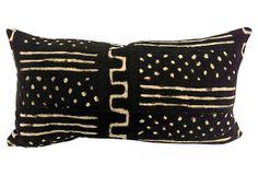 One Kings Lane - Wild Things - African Mudcloth Lumbar Pillow