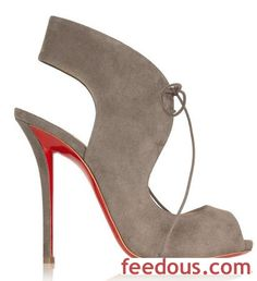 Friday Fix   Christian Louboutin Allegra 120 Cutout Suede Sandals - http://www.feedous.com/shoes-models/friday-fix-christian-louboutin-allegra-120-cutout-suede-sandals.html