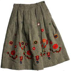 Indigo hornfish tweed skirt #fallintofashion2014 #mccallpatterncompany