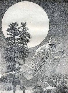 Flying Witch Illustration by Maxfield Parrish (1870-1966) Halloween Poster, Halloween Pictures, Halloween Art, Holidays Halloween, Vintage Halloween, Halloween Clothes, Halloween Witches, Halloween Prints, Costume Halloween