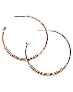 Melissa Odabash Tube Hoop Earrings, Rose Gold, John Lewis