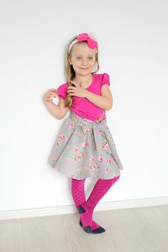 Circle skirt sewing tutorial no zipper - Do you love the look of those twirly circle skirts? Here'show to make a circle skirt for yourself or your little girl, without having to insert a zipper.