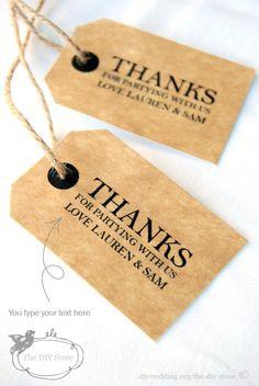 Wedding Tag, Thank You Tag, Favor Tag, Gift Tag - Small Tag Template - Horizontal Text Direction - Wishing Tree Tag, DIY Digital Printable. $5.95, via Etsy.