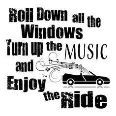 SVG - Roll Down the Windows - Digital Vector Download Roll down the Windows and turn up the music is a warm welcome to Summer thoughts and feelings washing over you. This design will be perfect on Summer Tshirts, Summer Pallet Signs, Cards and so much more.  More Summer SVGs: http://etsy.me/2p6xGAO  This Design does not contain editable Text. All text sections are unioned as one piece for compatibility across software platforms.  This Listing includes: 1 SVG, 1 DXF 1 EPS & ...