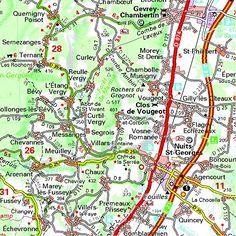Mapa Regional Burgundy (Carte regionali)  #ParquedeVigeland