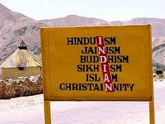 a sign in India...what a sad reality.  They think that any/all of these are acceptible means to salvation.