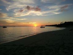 Viwa island sunset