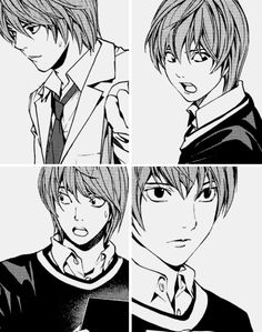 Tags: Death Note Manga, Light Yagami, love these faces.