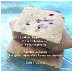 Vauvan vadelma-persikkapannukakku Baby Food Recipes, Dessert Recipes, Desserts, Cooking Tips, Cooking Recipes, Joko, Baby Led Weaning, Finger Foods, Kids Meals