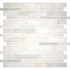 MS International Greecian White Interlocking 12 in. x 12 in. x 10 mm Polished Marble Mesh-Mounted Mosaic Tile (10 sq. ft. / case)-SMOT-GRE-I... $12.98/sq ft.