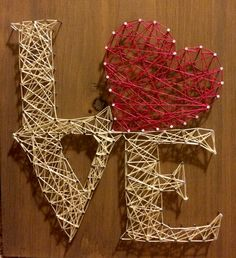 Love string art- things needed: 12X12 wood board home depot Strings micheals or walmart 1 inch nails home depot Semi transperant stain any color - sample - home depot