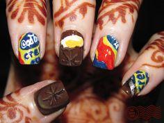 Cadbury Creme Egg Nails