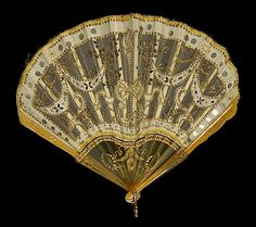 Fan  Date: 1900–1915 Culture: probably French Medium: Synthetic, bone, silk, sequins, metal, paper