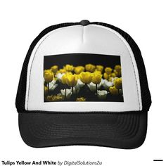 Tulips Yellow And White Trucker Hat