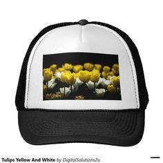 Tulips Yellow And White Trucker Hat