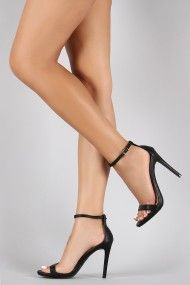 Cushion Ankle Strap Heel