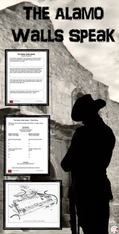 The Alamo - Texas Revolution - Imagine that you are one of the Alamo walls in 1836. What would you have seen? Experienced? In this activity you will challenge your students to write a story describing what they would have experienced if they had been at the Battle of the Alamo from the point of view of a wall.