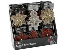 PACK OF 6  10cm Christmas Tree Trim treestar or angel with Jewels Ass Desig -- To view further for this item, visit the image link.