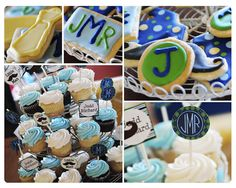 cupcakes and letter cookies