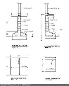 gambar-pondasi-plat-beton-setempat Civil Engineering Design, Civil Engineering Construction, Architectural Engineering, Steel Structure Buildings, Concrete Structure, Building Structure, Steel Frame Construction, Construction Drawings, Construction Design