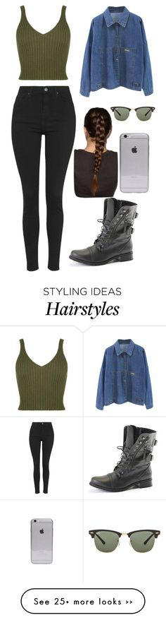 """Untitled #4"" by cristiana-nicoleta-stancu on Polyvore featuring Topshop and Ray-Ban"