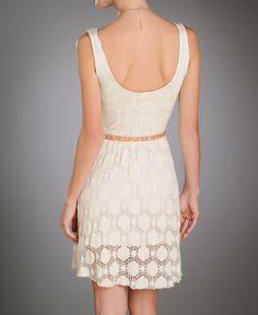 Renee C Circle Crochet Dress