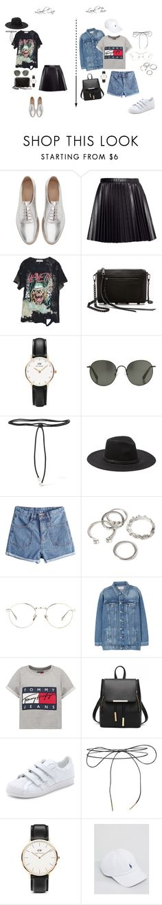 """2 styles..."" by juliaviana ❤ liked on Polyvore featuring Zara, H&M, High Heels Suicide, Rebecca Minkoff, Daniel Wellington, Linda Farrow, Aamaya by Priyanka, Vince Camuto, Forever 21 and MANGO"